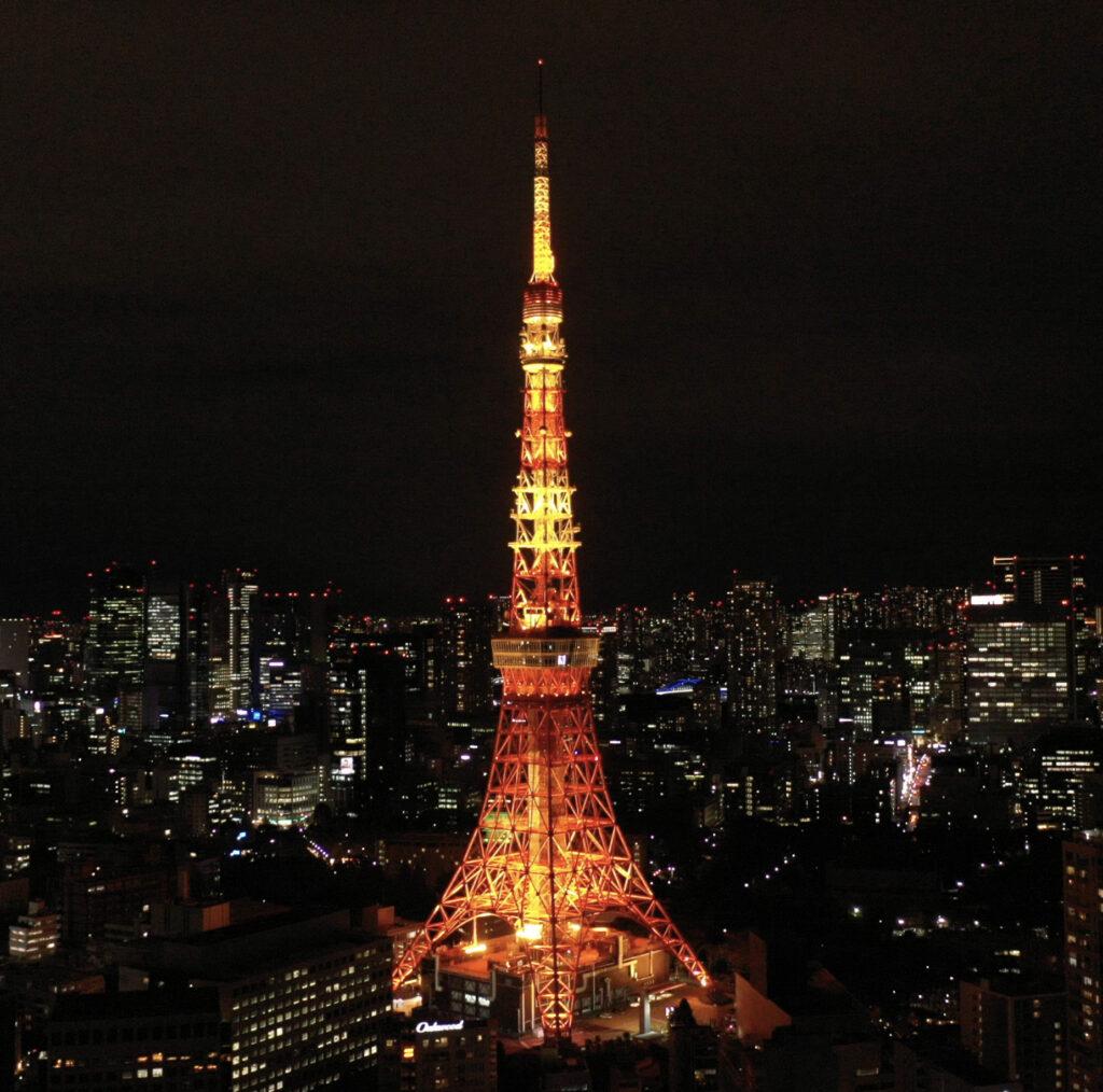 東京のドローン夜間撮影
