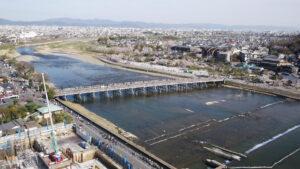 京都嵐山ドローン空撮