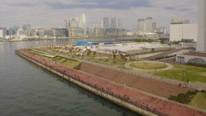 豊洲市場ドローン東京湾
