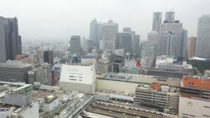新宿駅前ドローン空撮