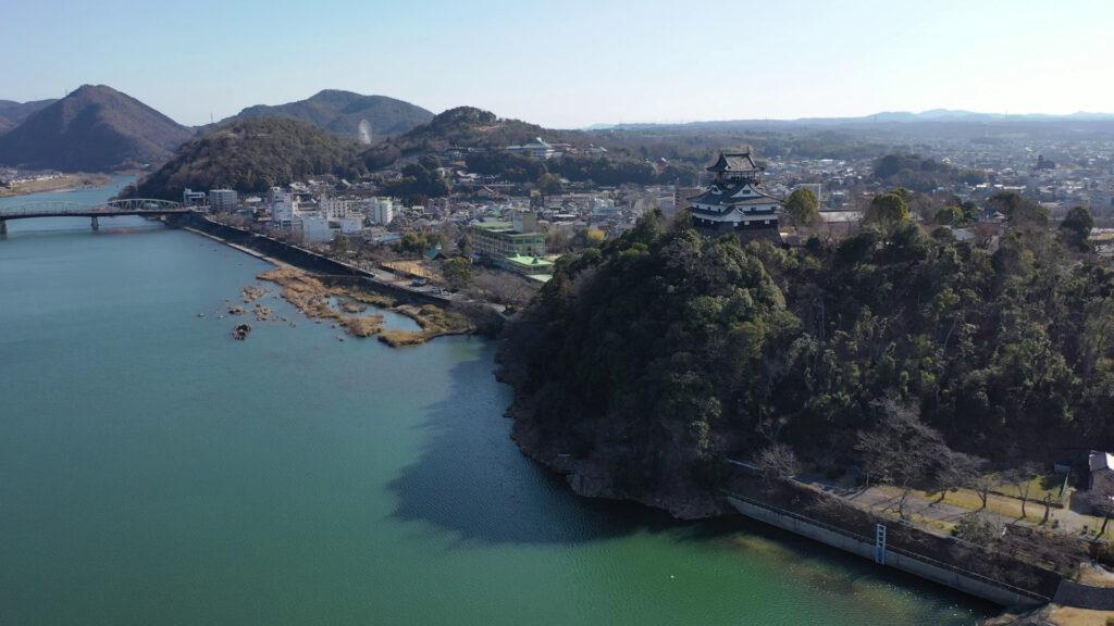 愛知県国宝犬山城ドローン空撮