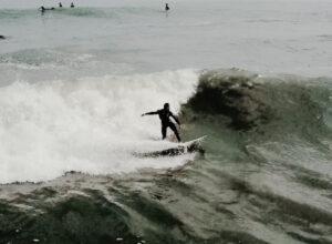 九十九里海上サーフィンドローン空撮